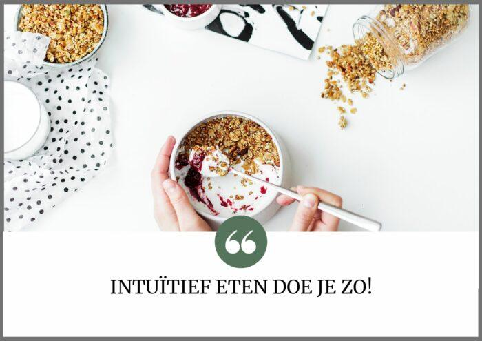intuitief eten doe je zo